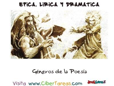 Generos de la Poesia - Epica, Lirica y Drmatica