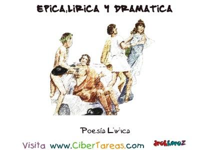 Poesia Lirica - Epica, Lirica y Drmatica