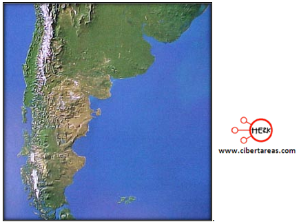 imagen satelital ejemplo geografia