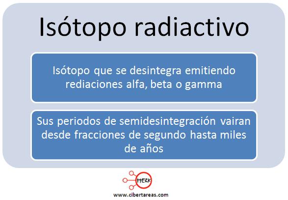 isotopo radiactivo
