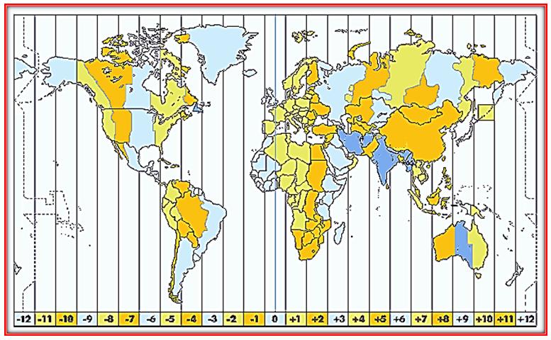 mapa de huso horario