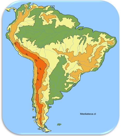 mapa fisico ejemplo geografia