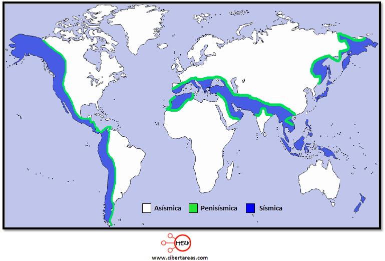 zonas sismicas geografia