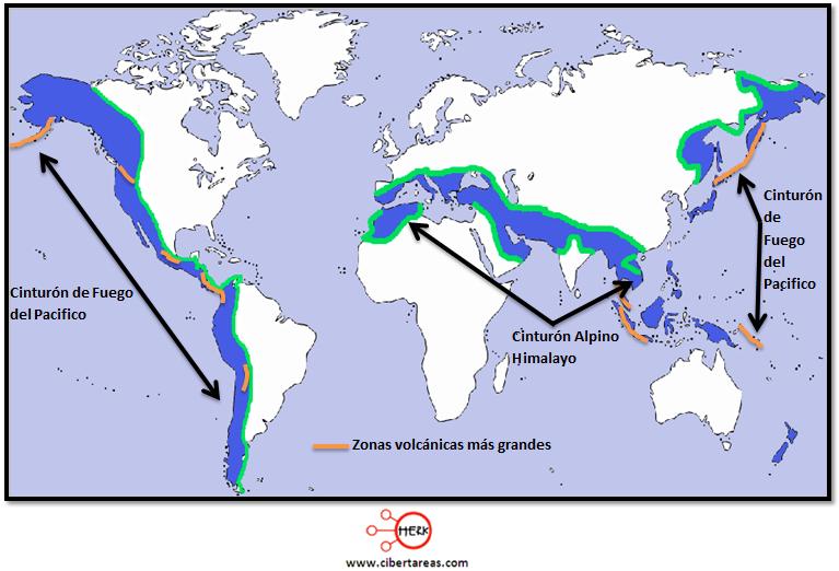 zonas volcanicas geografia