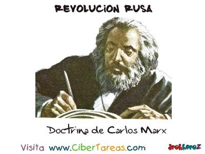 Doctrina de Carlos Marx - Revolucion Rusa