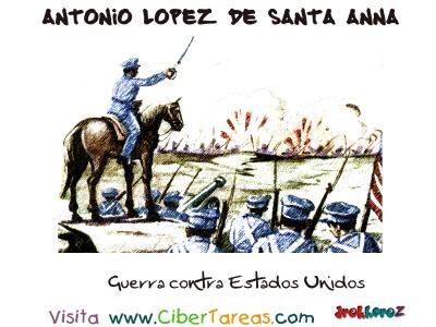 Guerra contra Estados Unidos - Santa Anna