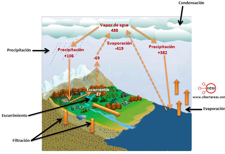 ciclo del agua balance hidrico geografia