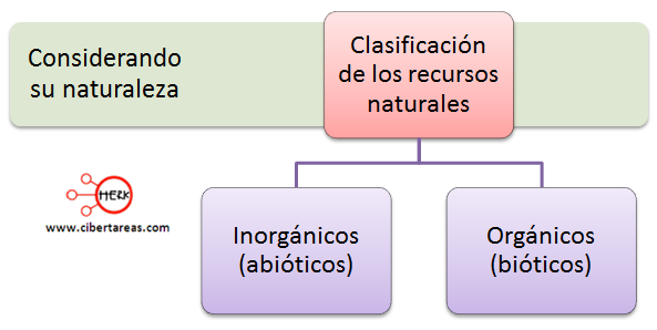clasificacion de los recursos naturales segun su naturaleza