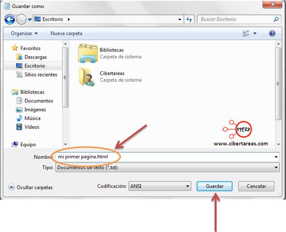 codigo html como guardar pagina herramientas informaticas