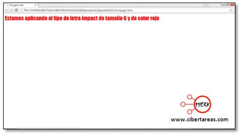 codigo para darle formato al texto html manual html