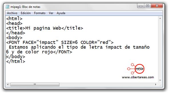 codigo para darle formato al texto html