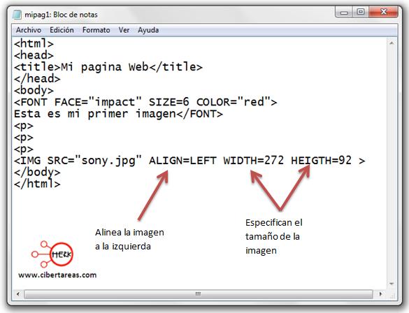 codigo para insertar una imagen html