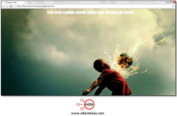 tutorial de html codigo para insertar una imagen de fondo