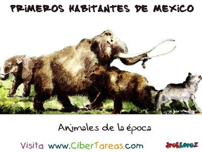 Animales de la epoca - Primeros Habitantes de México