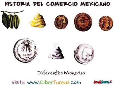 Diferentes Monedas - Historia del Comercio Mexicano