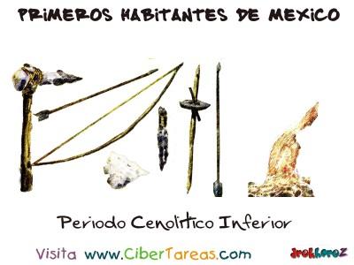 Periodo Cenolitico Inferior - Primeros Habitantes de México