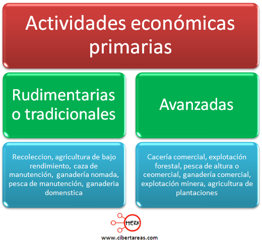 actividades economicas primarias geografia