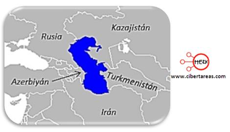 conflicto por el mar caspio geografia