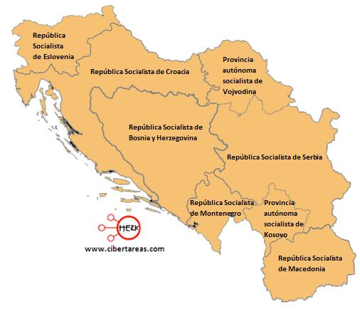 desintegracion de yugoslavia geografia