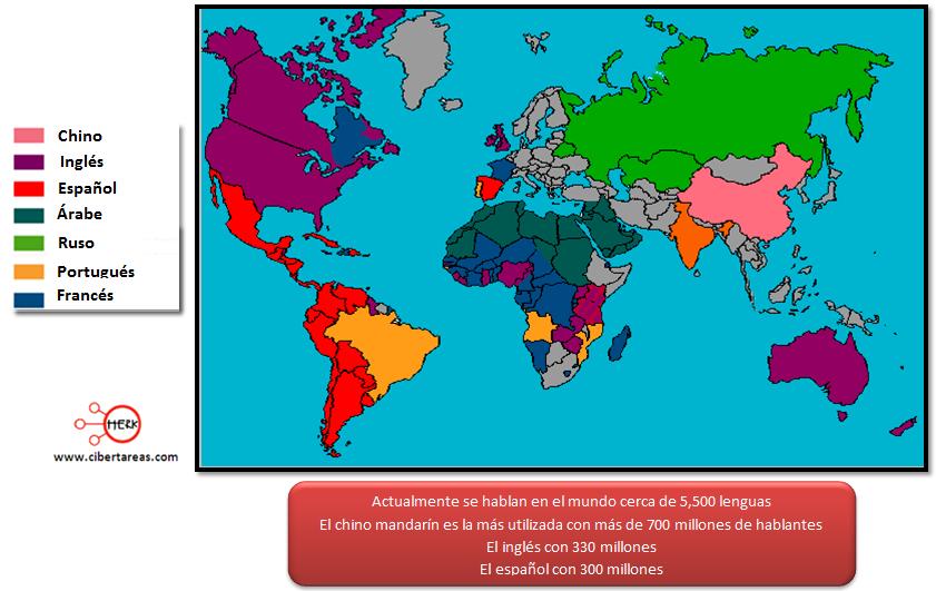 principales lenguas del mundo geografia