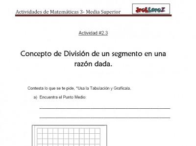 Concepto de Punto Medio-Actividad 2.3-Matematicas 3