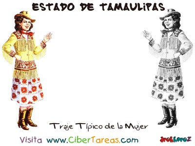 Traje Tipico de la Mujer - Estado de Tamaulipas