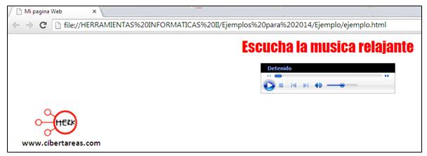 codigo para escuchar muscia en html manual de html