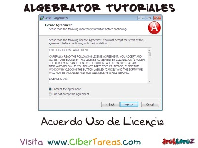Acuerdo Uso de Licencia - Algebrator Tutoriales
