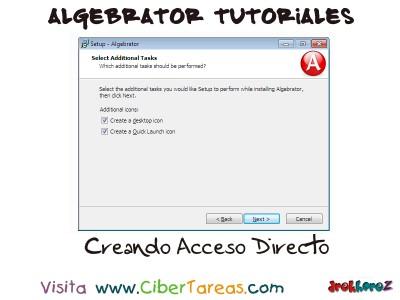 Creando Acceso Directo - Algebrator Tutoriales