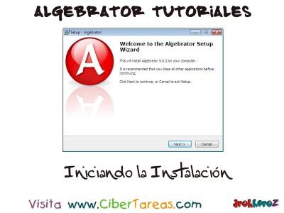 Iniciando la Instalacion - Algebrator Tutoriales