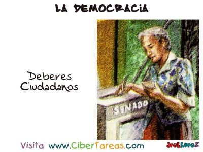 Los Deberes Ciudadanos - La Democracia