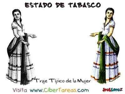 Traje Tipico de la Mujer - Estado de Tabasco