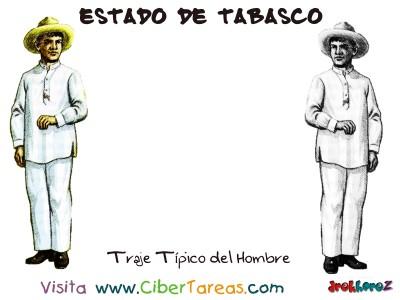 Traje Tipico del Hombre - Estado de Tabasco