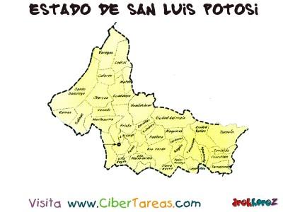 Estado de San Luis Potosi - Mapa