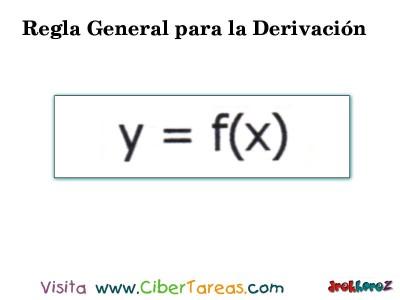 Regla General para la Derivacion en 4 Pasos-1- Calculo Diferencial