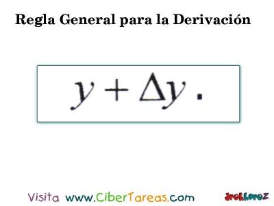 Regla General para la Derivacion en 4 Pasos-1.2- Calculo Diferencial
