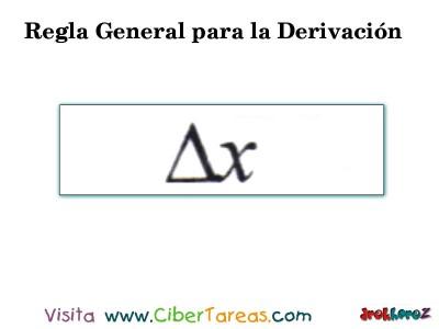 Regla General para la Derivacion en 4 Pasos-3.1- Calculo Diferencial