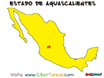 Mapa del Estado de Aguascalientes