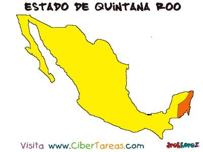 Mapa del Estado de Quintana Roo