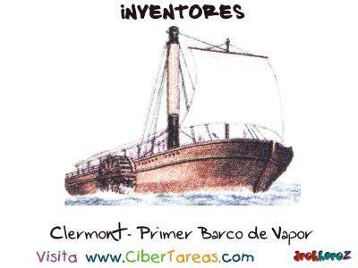 Clermont primer barco de vapor de Roberto Fulton-Inventores