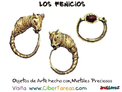 Objetos de Arte hecho con Metales Preciosos- Los Fenicios