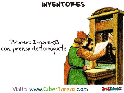 Primera Imprenta-Inventores