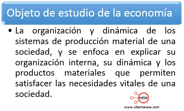 objeto de estudio de la economia introduccion a las ciencias sociales