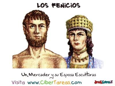 Un Mercader y su Esposa Esculturas - Los Fenicios