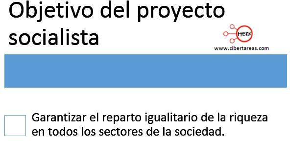 objetivo del proyecto soccialista de marx