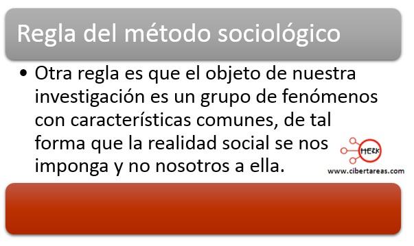 regla del metodo sociologico durkheim ciencias sociales