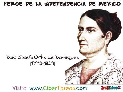 Doña Josefa Ortiz de Dominguez - Heroe de la Independencia de Mexico