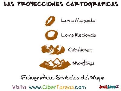 Fisiograficos Simbolos del Mapa - Proyecciones Cartograficas
