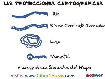Hidrograficos Simbolos del Mapa - Proyecciones Cartograficas