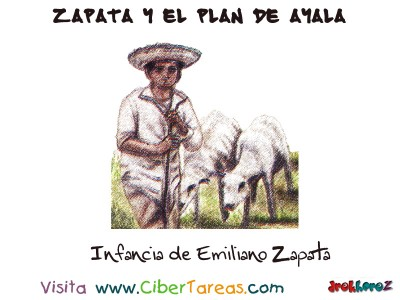 Infancia de Emiliano Zapata y el Plan de Ayala